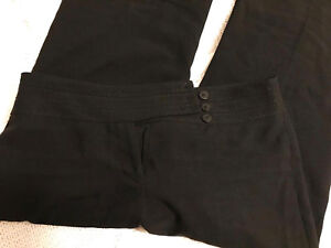 Ladies black tailored wide leg trousers by F&F 8R