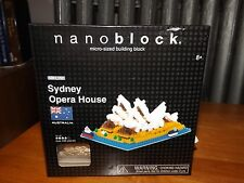 NANOBLOCK MICRO SIZED BUILDING, SYDNEY OPERA HOUSE, NBH-052, NEW IN BOX