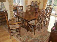 Refectory Table and Spindleback Chair Set Dining - Farmhouse Kitchen