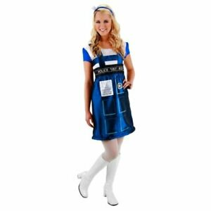 Elope Women's Doctor Who Tardis Dress British Phone Booth Costume Headpiece