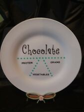 Modified Portion Control Plate - Chocolate! Plate White Elephant Joke Gag Funny