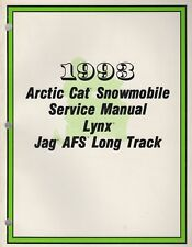 1993 ARCTIC CAT SNOWMOBILE LYNX,JAG AFS LONG TRACK  SERVICE MANUAL2254-825 (044)