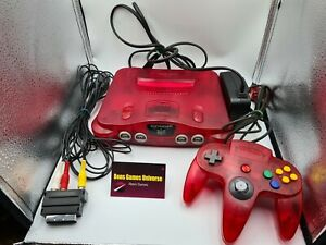 Nintendo 64 N64 Konsole Clear Red Rot Transparent PAL