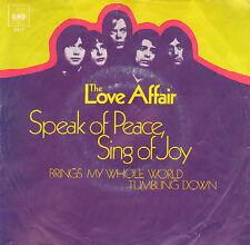 """LOVE AFFAIR – Speak Of Peace, Sing Of Joy (1970 VINYL SINGLE 7"""" GERMAN PS)"""