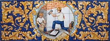 AZULEJOS PERSONALIZADOS DE OFICIOS. A MURAL PERSONALIZED This mural is for mason