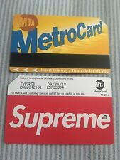 Supreme Metro Card NYC Subway MTA New York City Metrocard SS17