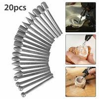 20pcs Diamond Burr Set Drill Bits For Mini Drill Rotary Tool Accessories Kit