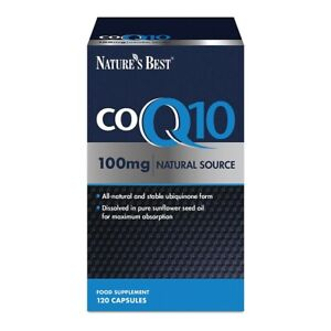 Co Enzyme Q10 CoQ10 100mg (Ubiquinone) 120 Capsules - One-a-day - High Strength