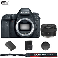 Canon EOS 6D Mark II DSLR Camera Body + EF 50mm f/1.4 USM Lens