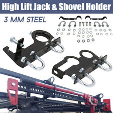 High Lift Jack & Shovel Holder 4x4 4WD Offroad Mount Roof Rack Farm Universal AU
