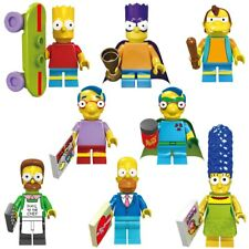8pcs New Family Homer Series Set Minifigures Marge Bart Lisa Lego Simpsons Gift