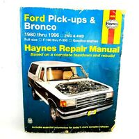 HaynesTruck Repair Manual Ford Pick Ups & Bronco 1980 - 1996 2WD & 4WD