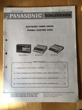 Panasonic Technical Information Troubleshooting Guide Tuning Radios - Original