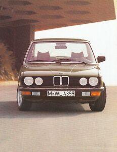 BMW 5er E28 518 520i 525i 528i E28 Limousine Classic Prospekt Brochure 1983 68