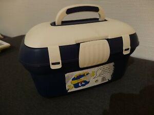 Nähkasten, Utensilienkoffer, Allzweck-Box, blau creme, nicht benutzt!!