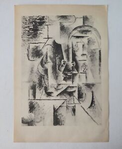Rare 1946 PABLO PICASSO Man with Pipe Collagraph Pochoir from Albert Carman