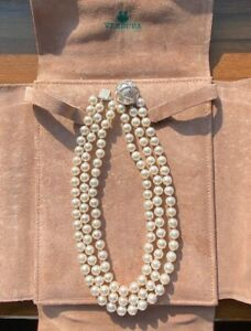 Verdura Triple Strand Pearl Necklace