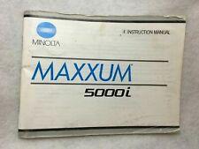 Minolta Maxxum 5000i Owner'S Instruction Manual, 1989, 60 Page Book, Vg