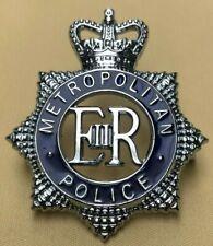 More details for obsolete cap enamel badge, helmet plate metropolitan london nu=2