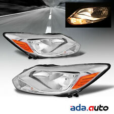 2012 2013 2014 Ford Focus Sedan/Hatchback Chrome Headlights Replacement Lamps