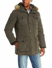 NWT Tommy Hilfiger Men's  Micro Twill Full Length Hooded Parka Coat Size XXL