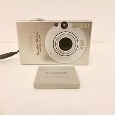 Canon PowerShot Digital ELPH SD1000 7.1MP Camera Silver TESTED - Include Battery