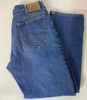 Vintage 90s Lee Blue Jeans Size 34X31 Denim Straight Leg Mens