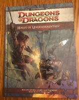 NEW! Halls of Undermountain Adventure HC BOTH MAPS!! 4th Ed Dungeons & Dragons