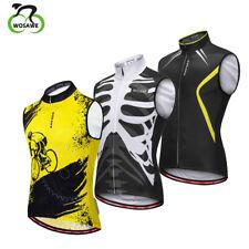 Mens cycling sleeveless jersey Racing Vest summer bike shirts bicycle Gilet Tops