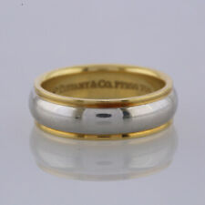 Tiffany & Co. Wedding Band Ring Platinum, 18ct Yellow Gold Size P