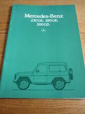 MERCEDES BENZ G SERIES BROCHURE 1984 85 jm