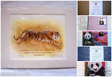 Sylvia Browne Collectors Edition Tiger Totem Jo McElwee Animal Book Authenticity