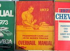 1972 CHEVROLET OVERHAUL MANUAL PASSENGERS CARS + 10-30 TRUCKS