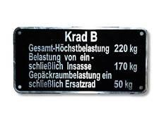 Krad B Typenschild BMW, Zündapp KS 500, 600, 750 usw. Schild id plate