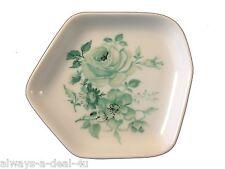 6 Vintage Limoges France Green Floral Butter Pats / Dish / Coaster