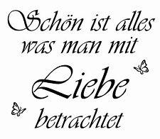 Wandtattoo Spruch Liebe Schmetterling Deko Aufkleber Wand Tapete Wunschfarbe