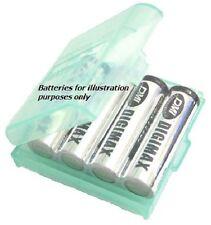 2 x Tough Battery Storage Case for 4 AA (LR06)Batteries