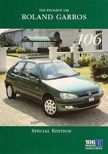 Peugeot 106 Roland Garros 1.4 Limited Edition 1996 UK Market Sales Brochure