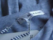MIKA & GALA GreyMarl35%CottonMixSideCutOutMiniSz10NWT