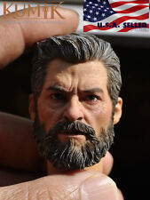 1/6 Scale Wolverine Head with Neck X-men Logan Old Hugh Jackman USA IN STOCK