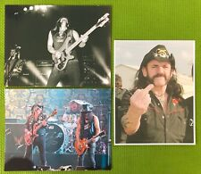LOT: 3 RARE LEMMY KILMISTER / MOTORHEAD 8x10 PHOTO REPRINTS~SLASH~DAVE GROHL~1