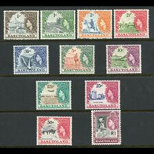 BASUTOLAND 1961-63 Set of 11 Values. SG 69-79. Lightly Hinged Mint. (WD652)