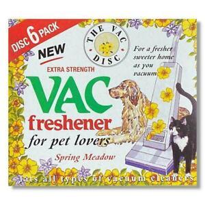 1 x 6 Pack Vac Air Freshner Hoover Vacuum Cleaner Pet Lovers Spring Meadow Disc