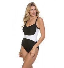 Magicsuit Miraclesuit Solids Serena One Piece Swimsuit Black Size 12 Color Block