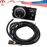 Fog Light Wiring Harness and Headlight Fog light switch Fits for 2007-2014 Chevy Silverado 1500 2500HD 3500HD GMC Sierra 1500 2500 3500 25858705 19170439