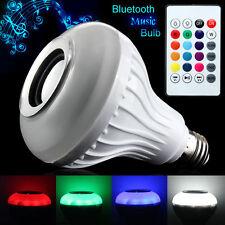 E27 Wireless Bluetooth Control Music Audio Speaker LED RGB Smart Bulb Light Lamp