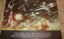 STAR WARS MOVIE PROGRAM RARE ORIGINAL 1977 EARLY FISHER FORD HAMILL VADER LUKE