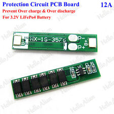 1S  Cell 18650 LiFePo4 Battery Charger 12A 3.2V BMS Protection PCB Board Circuit