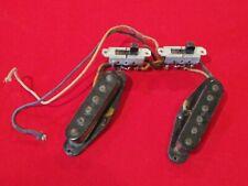 Vintage 1964 USA FENDER Mustang Guitar Pickup Set w Switches Black Bobbin