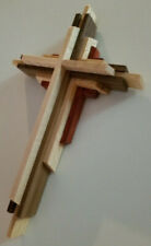 Wooden Cross Wall Hanging, Handmade